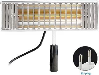 Lámpara de secado por infrarrojos para coche de 1000 W con pulverizador de cuerpo de auto y calentador de luz por infrarrojos de secado manual, negro