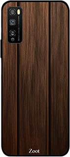 ZOOT Protective Printed Case Cover For Huawei Enjoy 20 Pro Dtp00058 Wooden Dark Brown Two Straig,Thermoplastic Polyurethan...