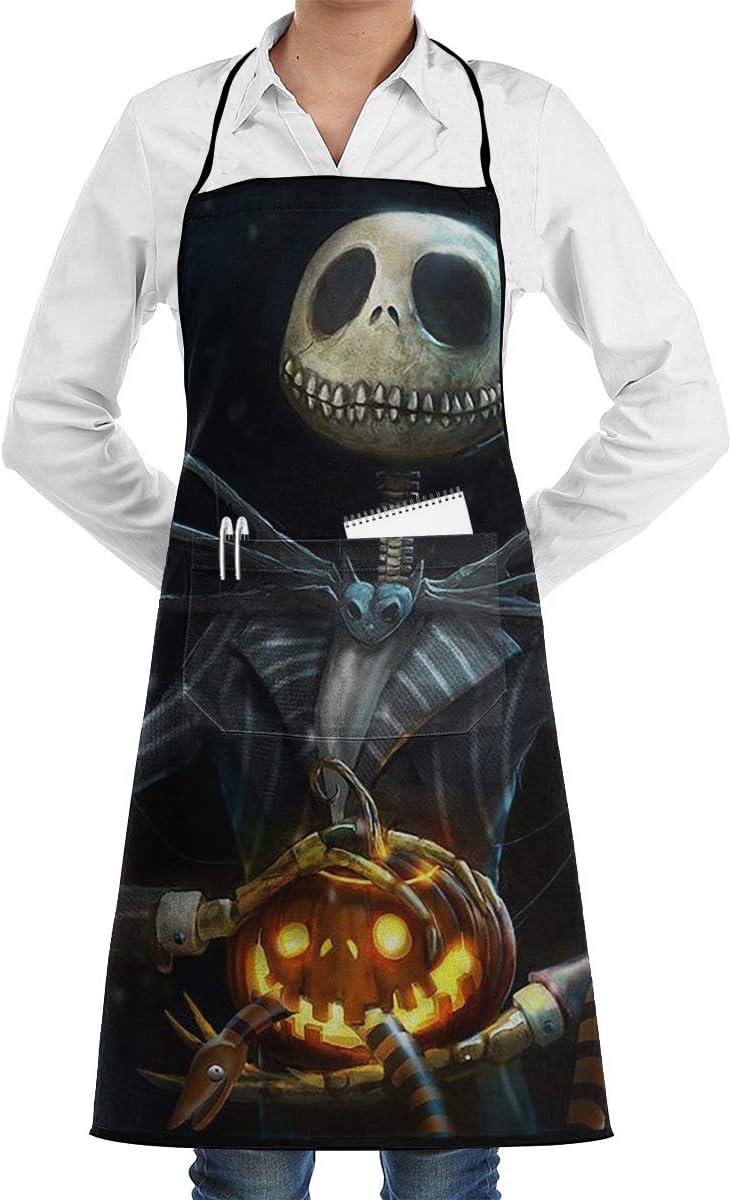 Skeleton Apron Halloween Pinafore Smock Retro Pocket Purple Black Orange Spooky Size XL
