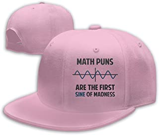 Math Puns First Sine of Madness Baseball Capclassic Unisex Baseball Cap Adjustable Washed Dyed Cotton Ball Hat White