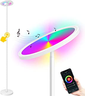 MikeWin Smart LED Floor Lamp WiFi 66 in. Torchiere Floor Lamp Compatible with Alexa Google Home, Dimmable Color Changing, 2000LM Super Bright, Tall Standing Lamp for Living Room Bedroom Reading White
