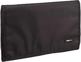 AmazonBasics Tri-Fold, Expandable Cosmetics and Toiletry Organizer/Travel Bag with Hanging Hook
