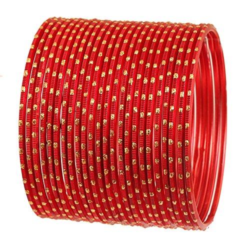 Touchstone 2 Dutzend Armreifsammlungslegierungsmetalldesignerschmucksachen spezielle Armreifarmbänder für Damen 2.75 Set 2 rot