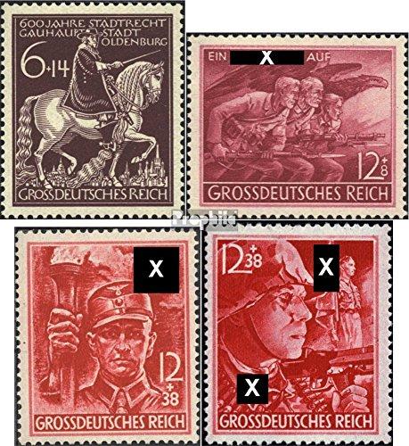 Prophila Collection Deutsches Reich 907,908,909-910 (kompl.Ausg.) Jahrgang 1945 komplett 1945 Oldenburg, Volkssturm, Organisation (Briefmarken für Sammler)