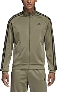 adidas Essentials 3S Tricot Track Jacket Men's All Sports L Trace Cargo