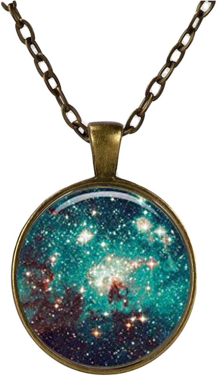 Charm Galaxy Art Pendant Nebula NECKLACE, Black Jewelery, Charm Pendant ,Dome glass jewelry, pure hand-made