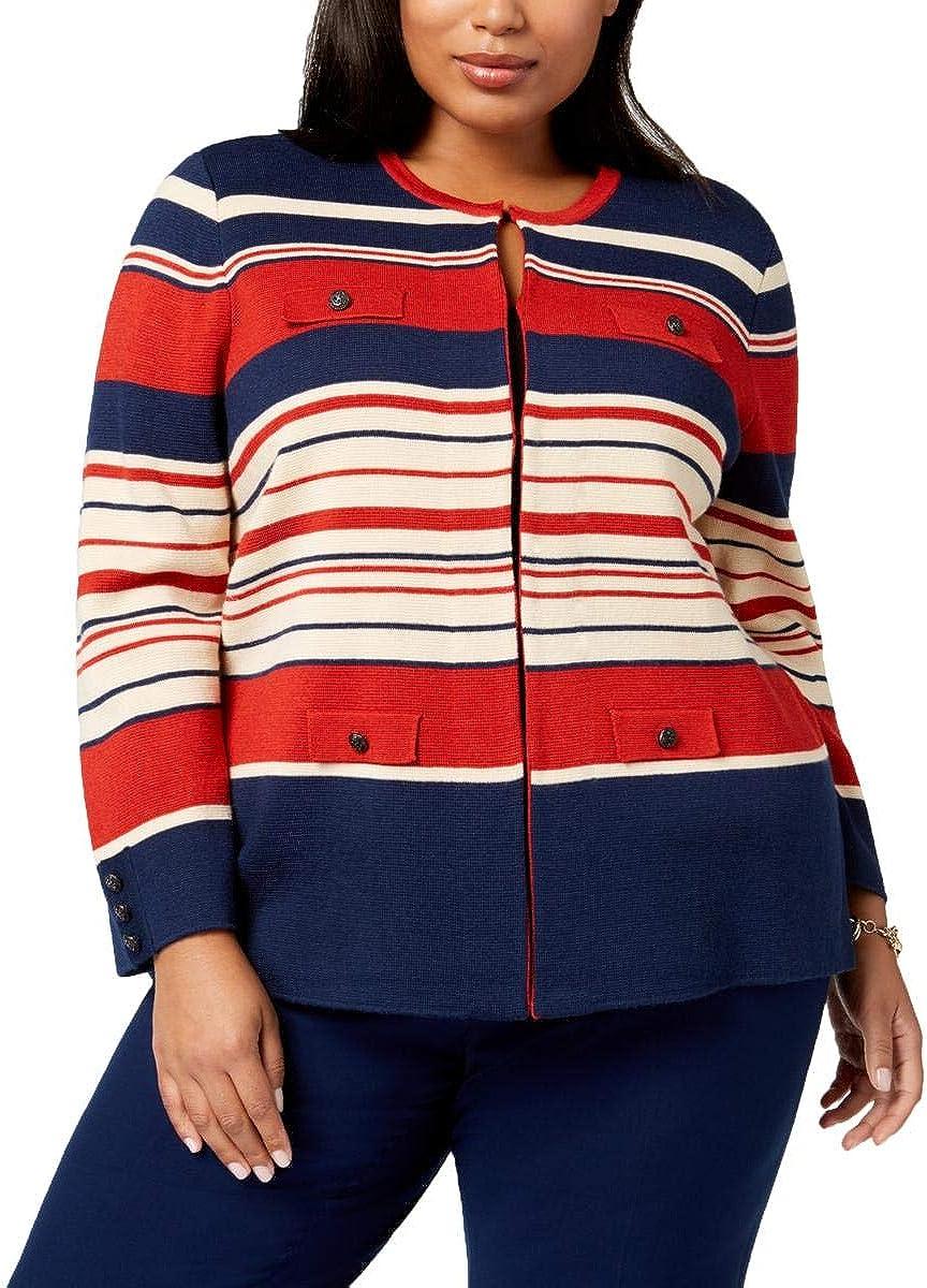 Anne Klein Women's Size Plus Novelty Cardigan