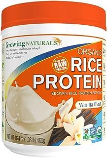 Bulk Saver Pack 2x16.4 OZ : Growing Naturals Organic Raw Rice Protein - Vanilla Blast