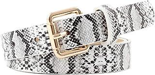 KLOP256 Mujeres Cinturón Pin Hebilla hion Vestido de Fiesta Jeans PU Cuero Regalo Para Niñas Correa Cintura Ajustable Comp...