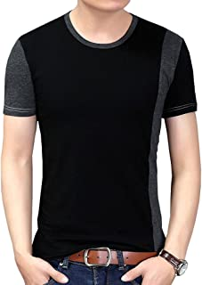 Nature Lovers Mens Short Sleeve T-Shirt Casual Tops Tee Classic Fit Basic Shirts D6701 Black Asian 2XL/US S
