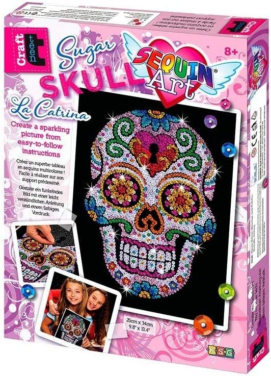 Sequin Flower Skull Craft - Unique Gift Ideas For 17 Year Old Female Teenage Girl
