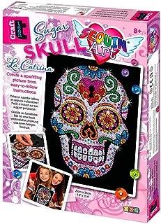 Sequin Art Sugar Skull Picture