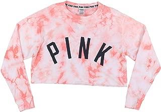 Pink Pullover Crop Sweatshirt