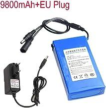 Zolimx DC 12V 6800-18000Mah Super Recargable Li-Ion Batería de Litio Pack + EU Plug (12V-9800mAh)