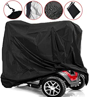 Scooter Covers for Mobility Scooters Wheelchair Storage Cover, Waterproof and Lightweight, Rain Protector from Dust Dirt Snow Rain Sun Rays - 67 x 24 x 46 inch (L x W x H)