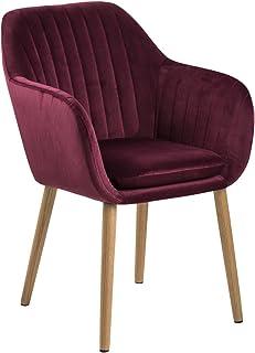 AC Design Furniture Wendy Silla de Comedor, Burdeos, 61 x 57 x 83 cm