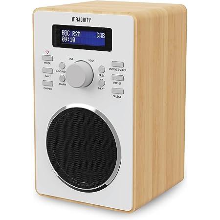 Majority Barton II DAB Radio | FM & DAB/DAB+ | Dual Alarm with Snooze Function | 20 Preset Stations