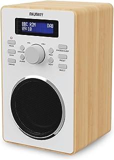 Majority Barton II DAB Radio   FM & DAB/DAB+   Dual Alarm with Snooze Function   20 Preset Stations