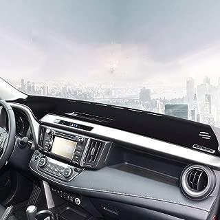 Black Naviurway 2nd Generation Anti-Slip Backing Custom Fit Dashboard Cover Dash Mat Carpet for Toyota RAV4 2013-2018