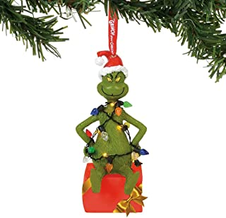 Department 56 Grinch Hanging Ornament, Multicolor