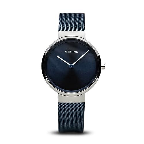 8ea3ee803059 Bering Unisex Reloj de Pulsera analógico Cuarzo Acero Inoxidable