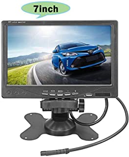 """Vehicle On-Dash Backup Monitor, 7"""" Digital HD Car TFT LCD Color Screen Display with 2 Video Input for Rear View Camera"""