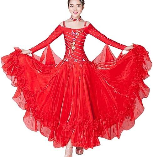ZYLL Valse Danse Robe De Jupe Robe De Danse Standard Robe De Danse Diahommet Brodé Costumes De Danse Expansion