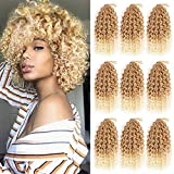GX Beauty 9 Bundles/Lot Marlybob Crochet Hair Ombre Jerry Curl Crochet Braids 8 Inch Synthetic Kinky Curly Braiding Hair Extensions(27/613#)