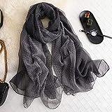 ALWYHH primavera estate donne sciarpa Pied de poule stampa scialli e avvolge per la signora di seta sciarpe pashmina spiaggia stole foulard
