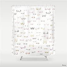 Weeya All Boobs Are Beautiful Shower Curtain 60 x 72 inch