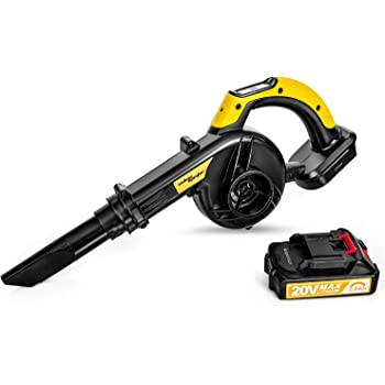 SALEM MASTER Cordless Leaf Blower, 20V Lithium-Ion 2-in-1 Sweeper/Vacuum Work for Household,Clearing Dust, Small Trash,Car