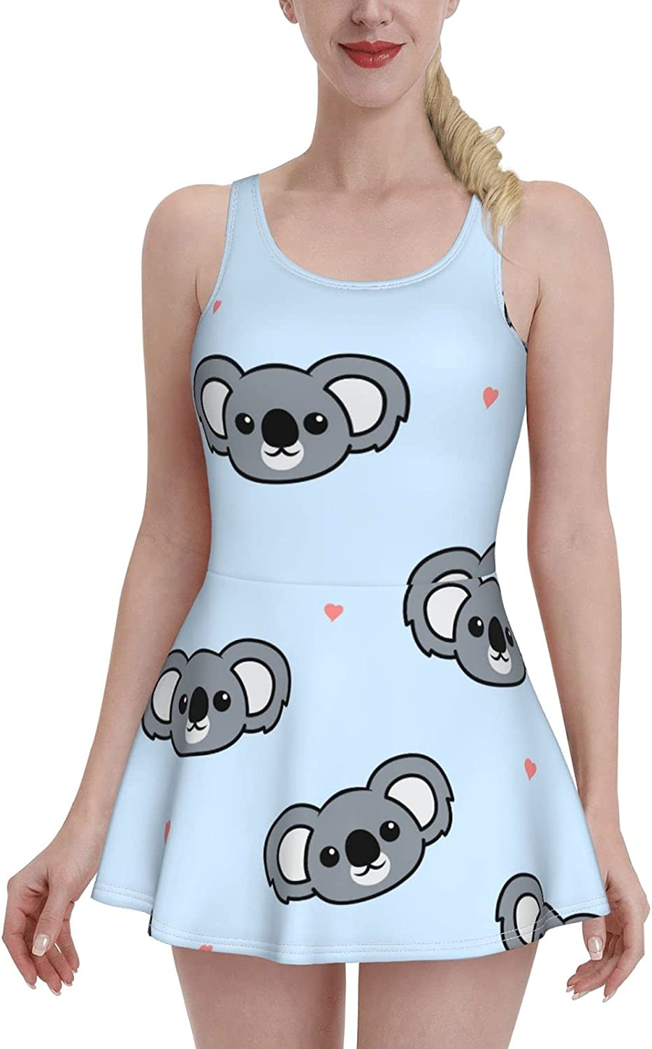 Cute Max 89% OFF Koala Ladies Ruffled Al sold out. One-Piece with Str Adjustable Swimsuit