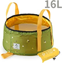 Tentock Multifunctional Lightweight Collapsible Portable Outdoor Wash Basin Folding Bucket for Travel Camping Hiking Fishing 10L/16L