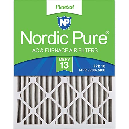 Nordic Pure 14x24x1 MERV 13 Pleated AC Furnace Air Filters 6 Pack