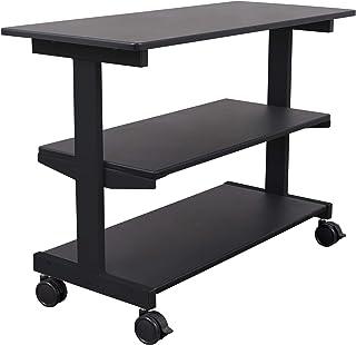 Side Desk Shelves - Bookcase on Wheels