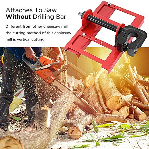 YEFA Vertical Cutting Chainsaw Mill, Upgrade Lumber Guide Rail Saw Steel Timber Chainsaw Attachment Cut Guided Mill Wood for Woodworkers
