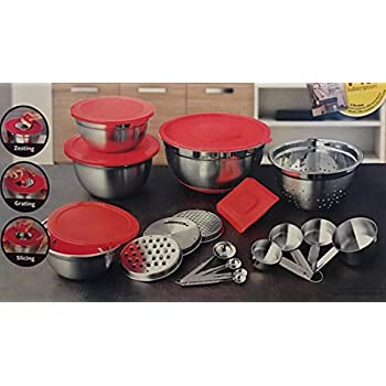 Amazon Com Better Homes And Gardens 21 Piece Stainless Steel Measure And Mix Kitchen Set Kitchen Dining