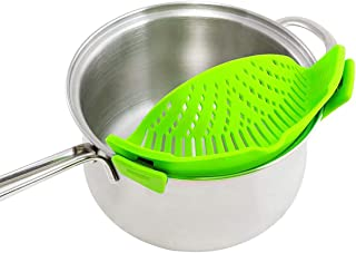 GuangTouL Clip-On Strain Strainer, kitchen Food Strainers Heat Resistant Silicone, Easy to Use Fits all Pots and Bowls