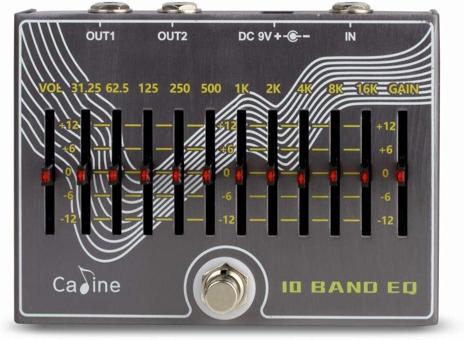 Caline CP-81 - Pedal de efectos de guitarra (10 bandas EQ + volumen)
