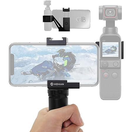 DJI Osmo Pocket 2/1用ホルダーセット スマホホルダー 三脚マウント付き アルミ合金製 丈夫 安定 コールドシュー 1/4インチ三脚ネジ対応 VLOG 撮影用 Moman製品 正規代理