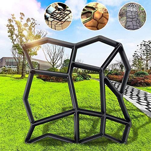 YLEI DIY Betonform mit 9 Kammer, Schalungsform zum selber gießen, robuster Kunststoff Betonformen für Garten Beton, Einfach zu gießen, Schwarz
