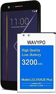 Wavypo LG K20 Plus Battery, 3200mAh BL-46G1F Li-ion Replacement Battery for LG LV5/K20 Plus, LG K10 2017, K8V 2017, K20V VS501, MP260 TP260, LG K20 Spare Battery [24 Month Warranty]