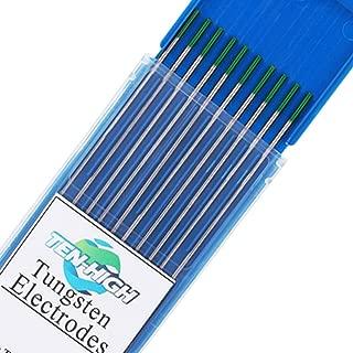 rojo TEN-HIGH Soldadura TIG Electrodos de Tungsteno con 2/% de Thorium WT20 10 unidades por paquete