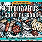 Coronavirus Coloring Book: Epidemic Coloring Pages for Quarantine | Covid 19 Creative Coloring | Blue (Quarantine & Chill)