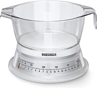 Soehnle Balance de cuisine Vario, Balance cuisine mécanique avec bol gradué d'une contenance de 500 ml, Petite balance ali...