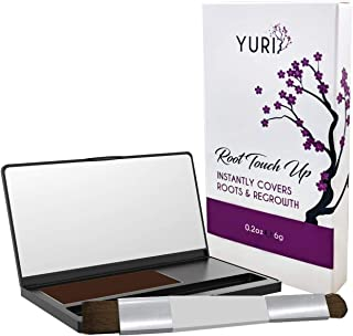 Yuri Premium Instant Root Touch Up Powder - Brown - Temporary Root Concealer for Extending Time Between Coloring - Lasts U...