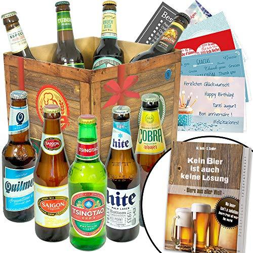 BIERE DER Welt Geschenk Box Männer + inkl Bierbuch + inkl Geschenkkarten + Bier Geschenke + Geburtstags Geschenke