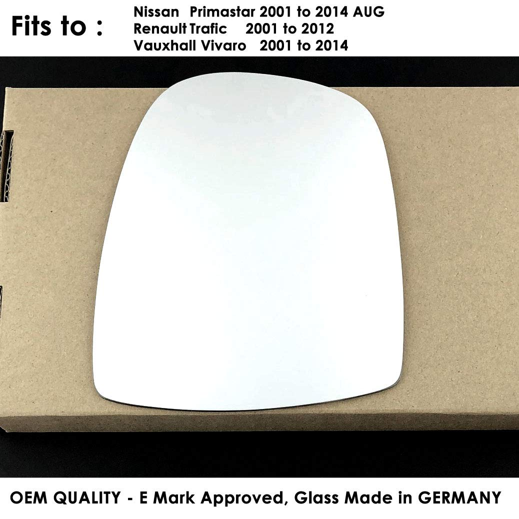 ,2001 onward Wing Mirror glass-silver,LH Passenger Side