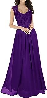 Women's Casual Deep- V Neck Sleeveless Vintage Wedding Maxi Dress