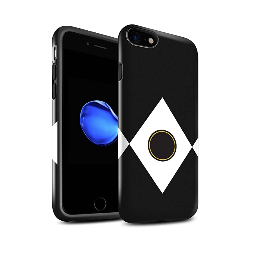 STUFF4 Gloss Tough Shock Proof Phone Case for Apple iPhone 8 / Black Design/TV Comic Rangers Collection